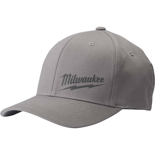 Milwaukee FlexFit Gray Fitted Hat, L/XL