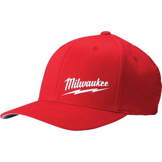 Milwaukee FlexFit Red Fitted Hat, S/M
