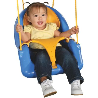 Swing N Slide Comfy-N-Secure Toddler Blue & Yellow Swing