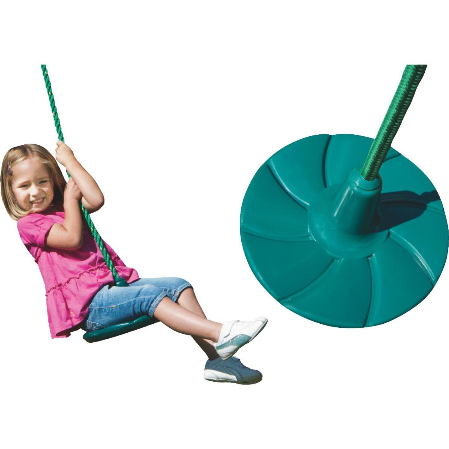 Swing N Slide Shooting Star Green Disc Swing Image 1