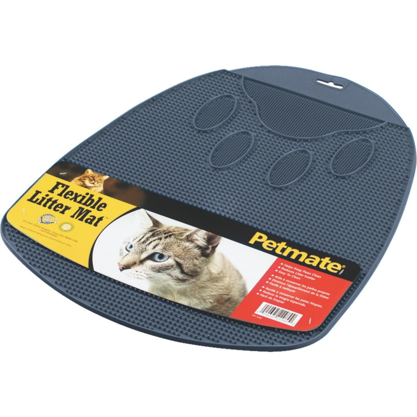 Petmate 13-1/2 In. x 14 In. x 1 In. Flexible Rubber Litter Mat Image 1